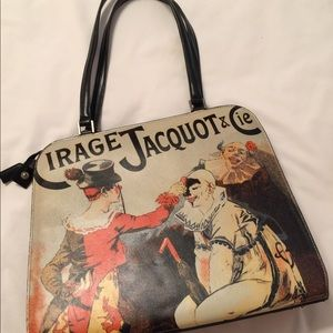 Cirage Jacquot and Cie-Themed Leather Bag